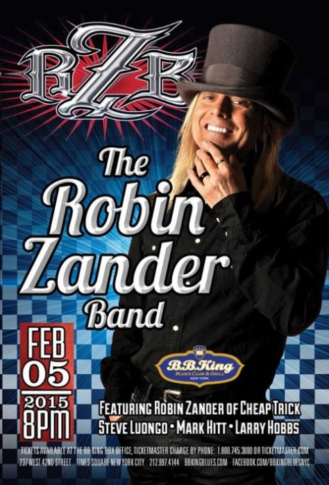 Poster - Robin Zander at BB Kings - 2015