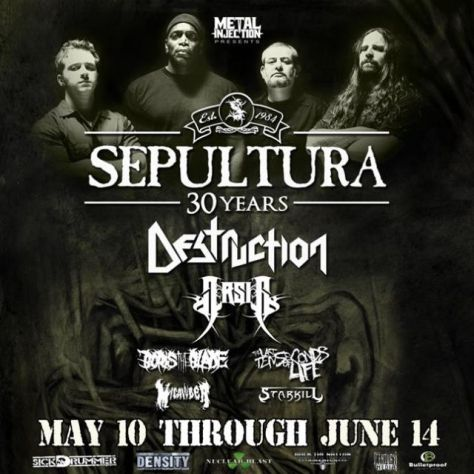 Tour - Sepultura - 2015