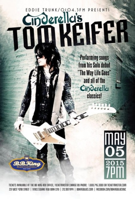 Poster - Tom Keifer at BB Kings - 2015