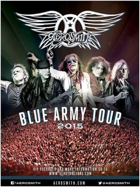 Tour - Aerosmith - Blue Army Tour - 2015
