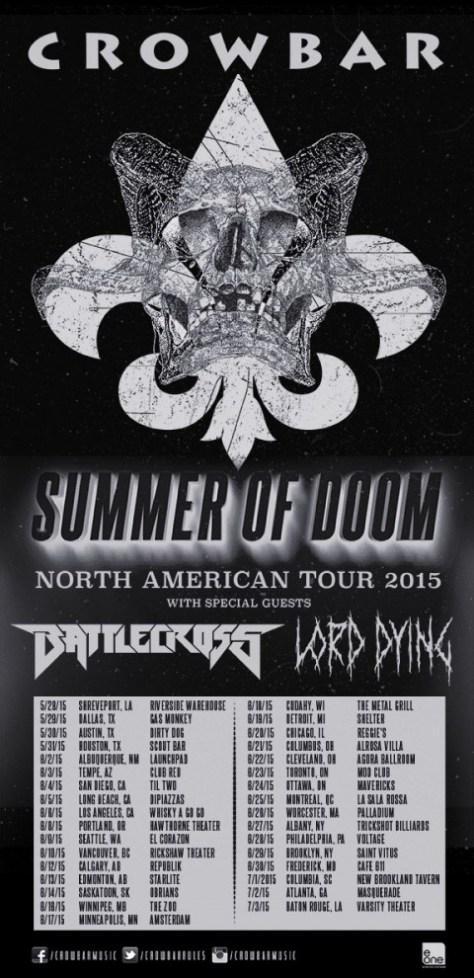 Tour - Crowbar - Summer 2015