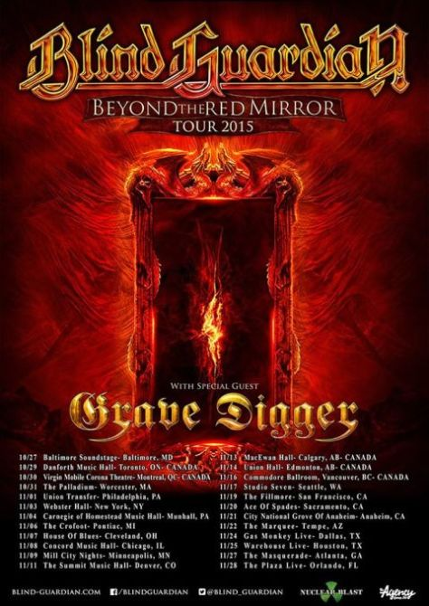 Tour - Blind Guardian - BTRM 2015