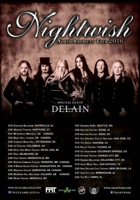 Tour - Nightwish - 2016
