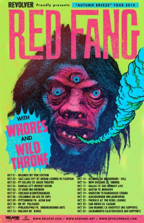 Tour - Red Fang - Fall 2015