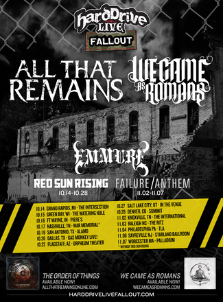 Tour - All That Remains - HardDrive Live 2015