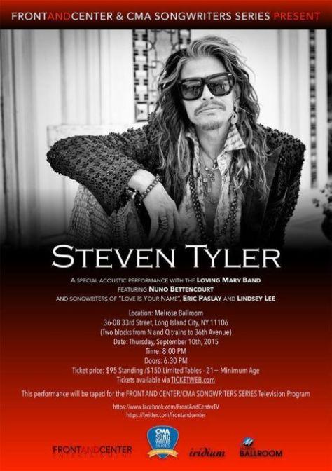 Poster - Steven Tyler - CMA 2015