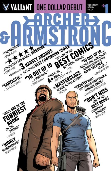 """One Dollar Debut: Archer and Armstrong"" #1"