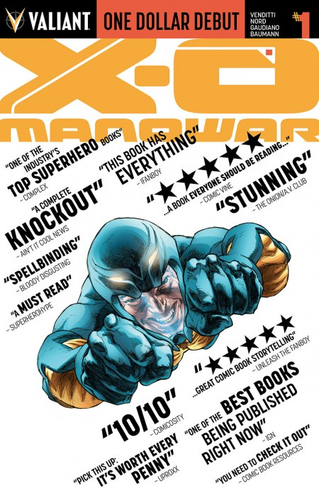 """One Dollar Debut: X-O Manowar"" #1"
