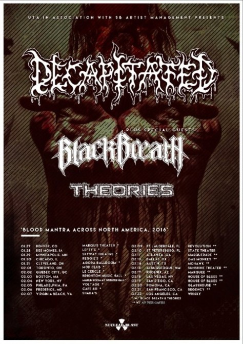 Tour - Decapitated - Winter 2016