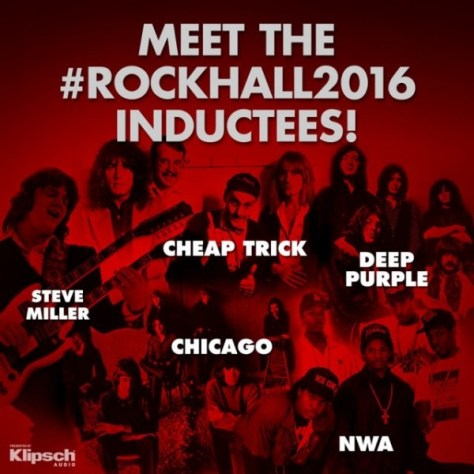 Photo - Rock Hall Inductees - 2016