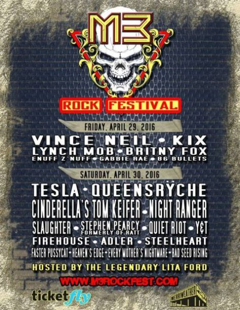 Poster - M3 Rock Festival B - 2016