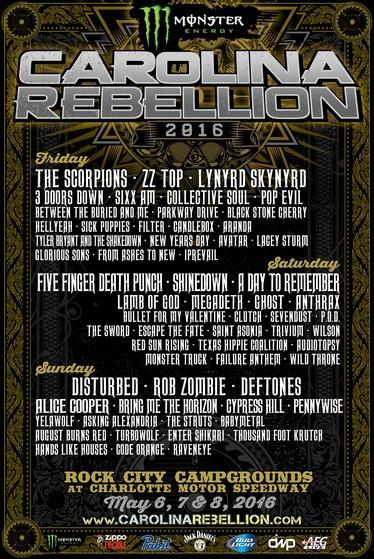 Tour - Carolina Rebellion - 2016