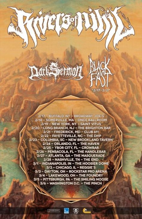 Tour - Rivers Of Nihil - Winter 2016