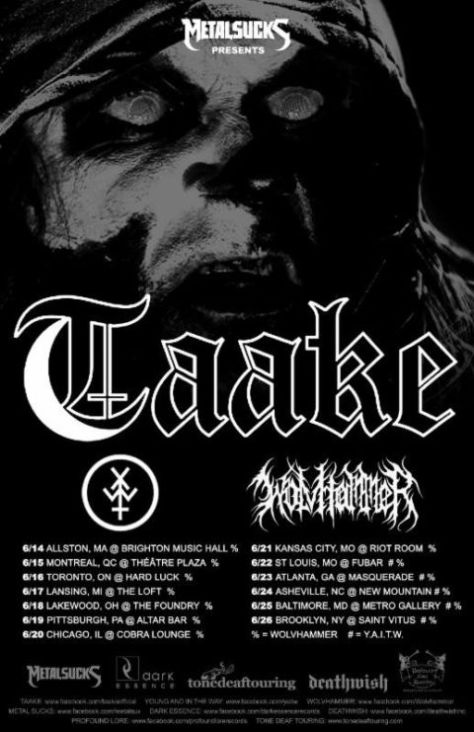 Tour - Taake - North America 2015