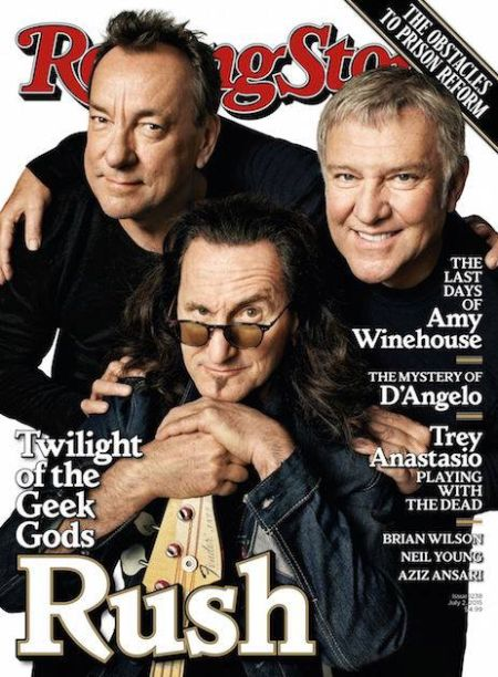 Cover - Rush on Rolling Stone - 2015