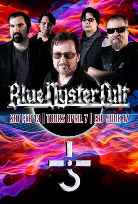Poster - Blue Oyster Cult - Reaper Residency 2016
