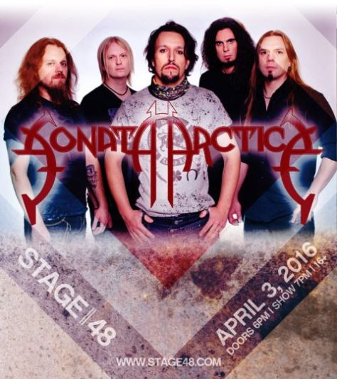 Poster - Sonata Arctica at Stage 48 - 2016
