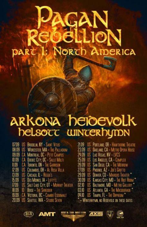 Tour - Arkona - Pagan Rebellion Pt 1 - 2015