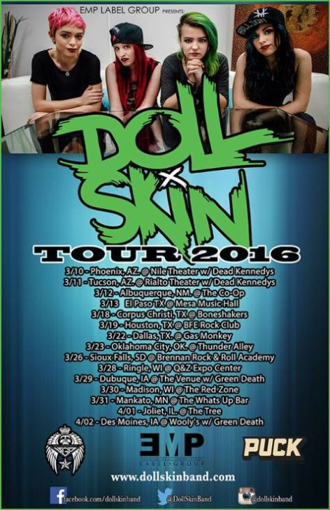 Tour - Doll Skin - Spring Headlining 2016
