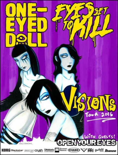 Tour - One-Eyed Doll - Visions Tour 2016