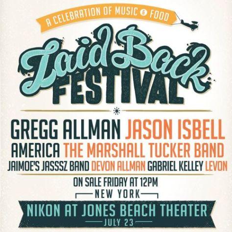 Poster - Laid Back Festival at Jones Beach - 2016