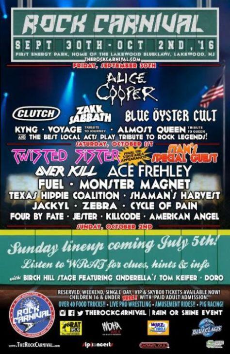 Poster - Rock Carnival 2016 - P2