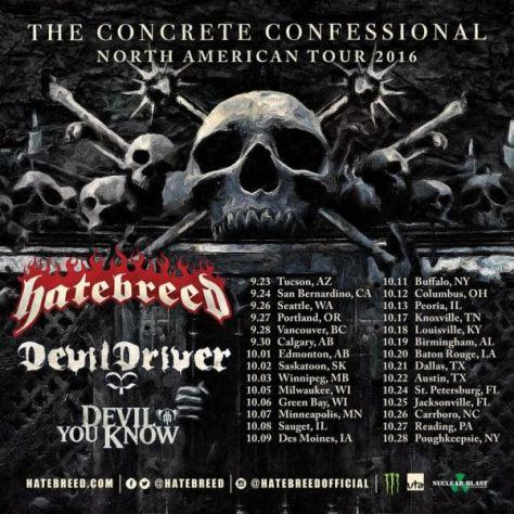 Tour - Hatebreed - Fall 2016