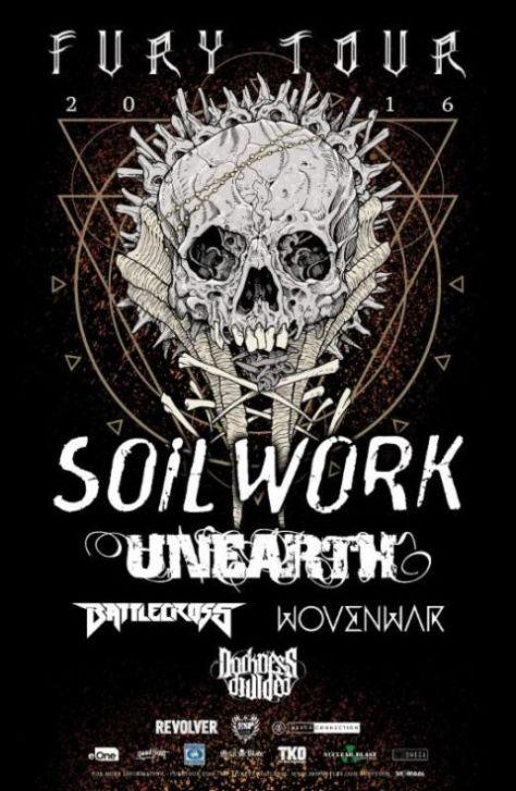 Tour - Soilwork - Fury Tour 2nd Leg - 2016