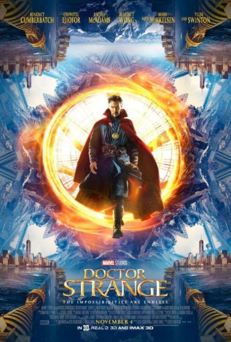 movie posters, marvel cinematic universe, doctor strange, walt disney pictures
