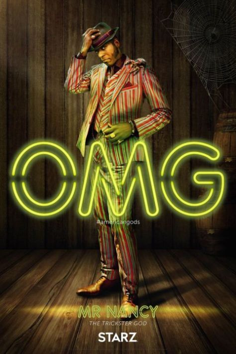 american gods, american gods character posters
