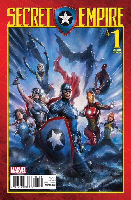 marvel comics, comic book covers, secret empire