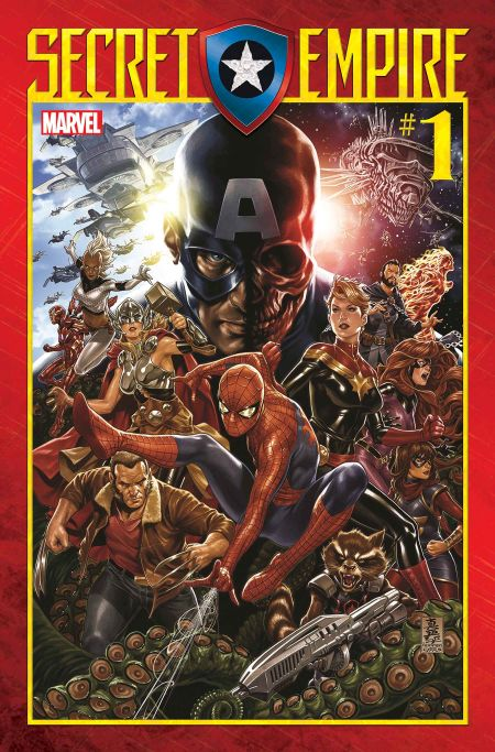 marvel comics, comic book covers, secret empire
