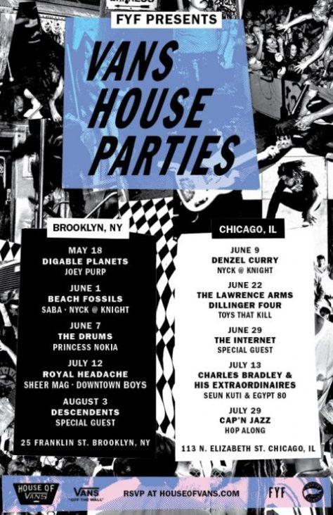 house of vans, vans house parties 2017