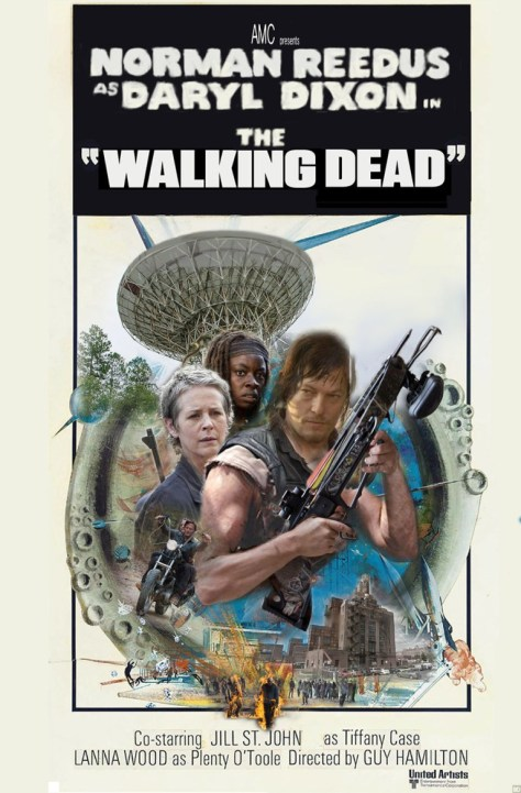 television posters, promotional posters, amc, the walking dead, homage posters