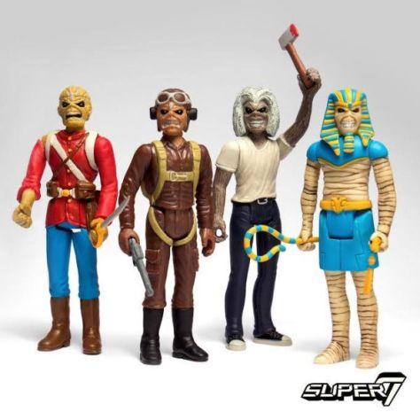 super7, iron maiden eddie, reaction figures