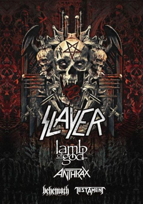 slayer, slayer tour posters, tour posters