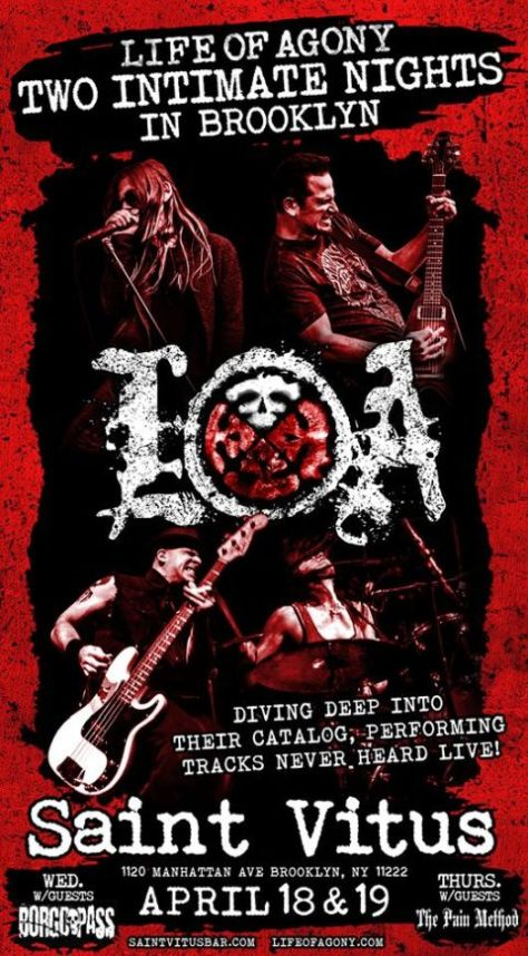 life of agony, life of agony tour posters, tour posters