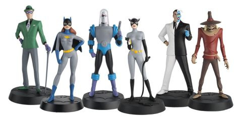 eaglemoss collections, batman the animated series, superhero figurines