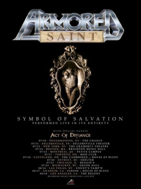 armored saint, armored saint tour posters, tour posters