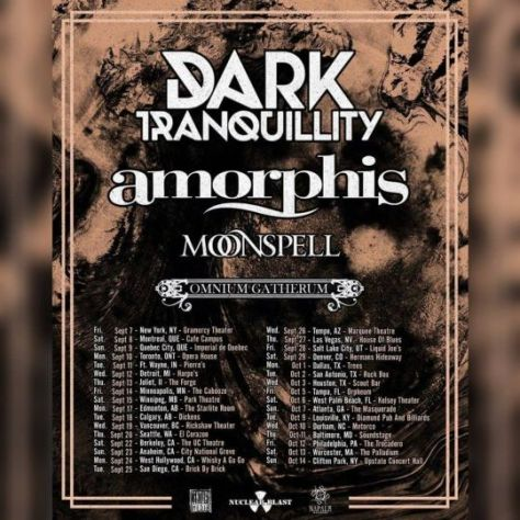 tour posters, promotional posters, amorphis, dark tranquillity, moonspell, omnium gatherum, nuclear blast records, century media records