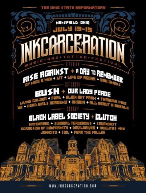 inkcarceration festival poster