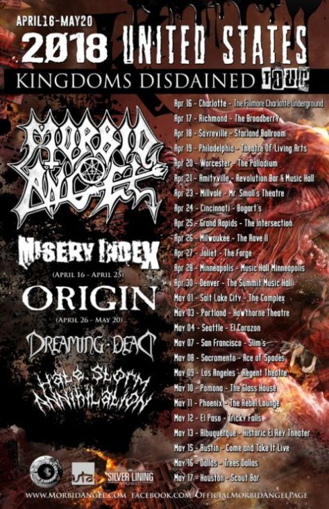 morbid angel, tour posters, morbid angel tour posters