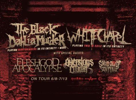 concert posters, black dahlia murder, black dahlia murder concert posters