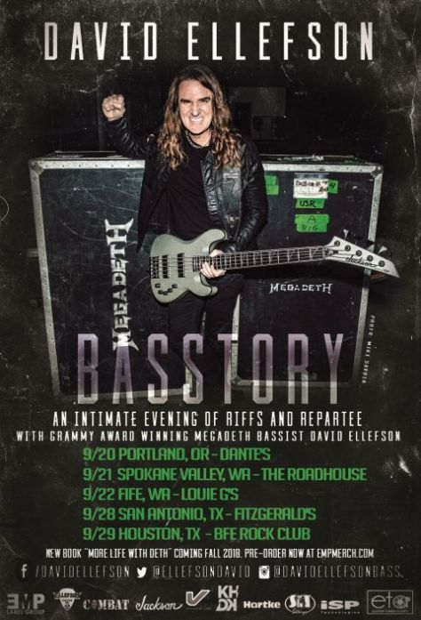 tour posters, dave ellefson basstory