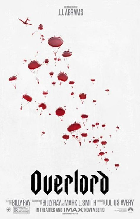 movie posters, promotional posters, paramount pictures, overlord