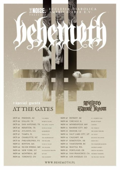 tour posters, behemoth tour posters, metal blade records artists