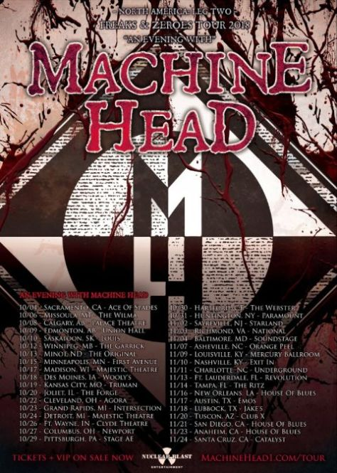 tour posters, machine head tour posters