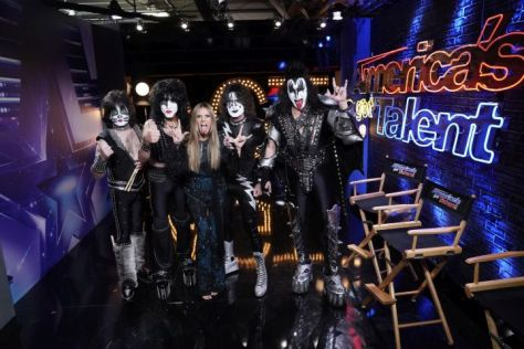 kiss, americas got talent, heidi klum