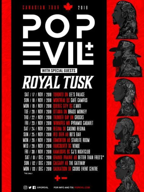 tour posters, pop evil, pop evil tour posters