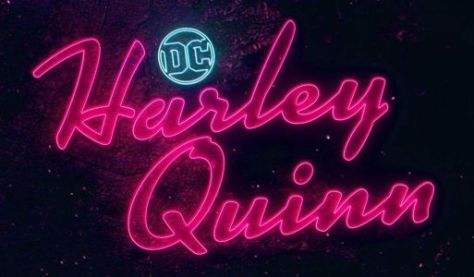 harley quinn logo, dc universe